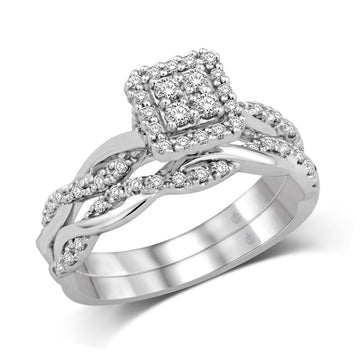 10K White Gold 1/3 Ct.Tw. Diamond Fashion Bridal