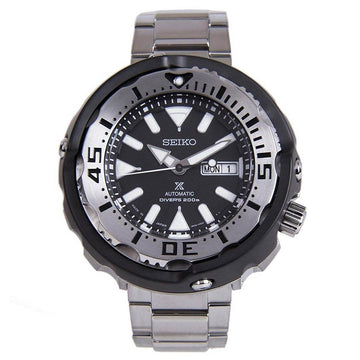 Seiko SRPA79K1 Men's Prospex Black Dial Steel Bracelet Automatic Dive Watch