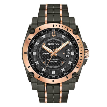 Bulova Men's Diamond Watch - Precisionist Two Tone Stainless Steel Dive | 98D149