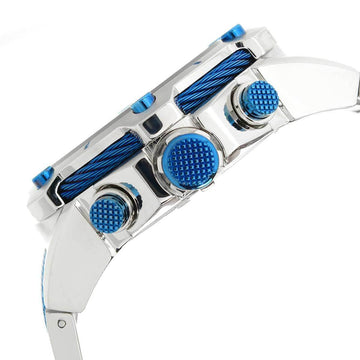 Invicta Men's Chronograph Watch - Bolt Quartz Blue Dial Two Tone Bracelet | 25462