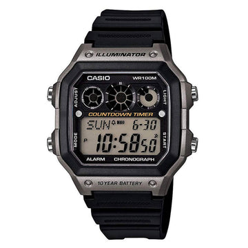 Casio Men's Chronograph Watch - Youth Digital Dial Alarm | AE1300WH-8A