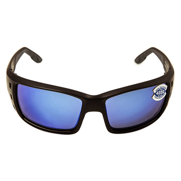 Costa Del Mar PT11BMGLP Men's Permit X-Large Polarized Glass 400G Blue Mirror Lens Matte Black Frame Sunglasses