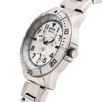 Invicta 7078 Men's Silver Dial Quartz Signature II Stainless Steel Bracelet Day-Date Watch