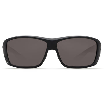 Costa Del Mar AT01OGGLP Men's Cat Cay Polarized Grey Mirror 580G Lens Blackout Frame Sunglasses