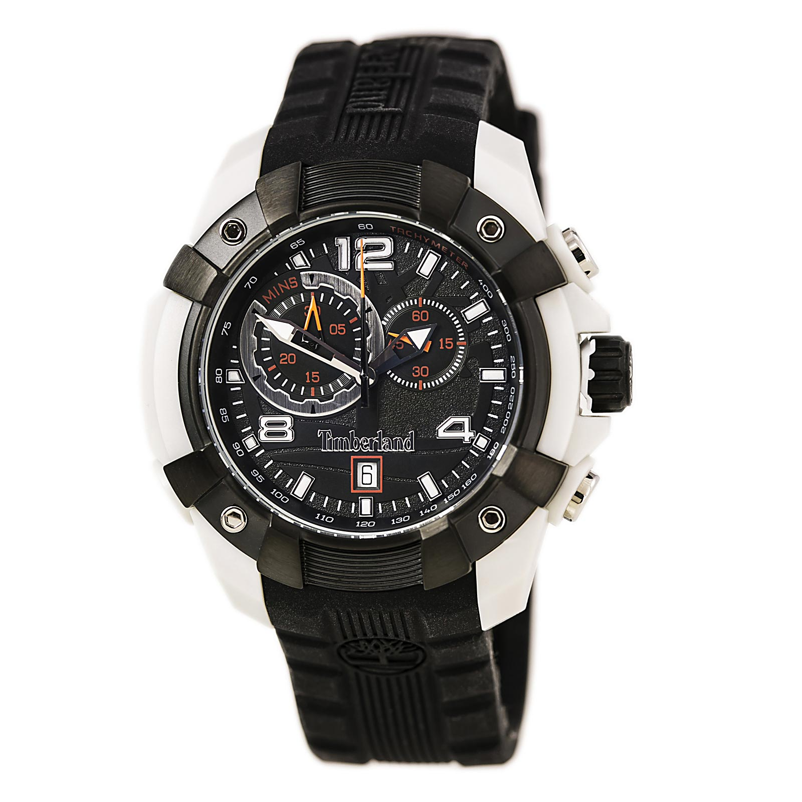 Timberland TBL-13356JPGYB-02 Men's Wheelwright Black Silicone Strap Chronograph Watch