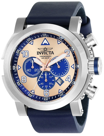 Invicta 23366 Men's I-Force Blue Leather Strap Chronograph Watch