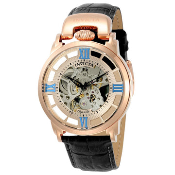 Invicta 22615 Men's Objet D Art Transparent Rose Gold & Silver Skeleton Dial Automatic Watch