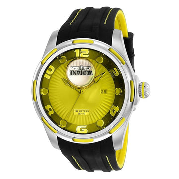 Invicta Men's Strap Watch - Lupah Quartz Black & Yellow Silicone | 25100