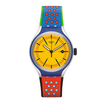 Swatch Unisex Strap Watch - Action Heroes Amarelho Yellow Dial | YES4015