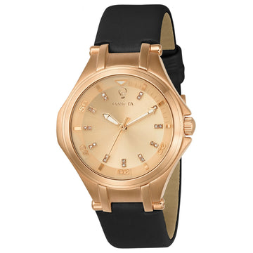 Invicta Women's Diamond Watch - Gabrielle Union Rose Gold Dial Leather Strap | 23257