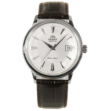 Orient ER24005W Men's Bambino White Dial Brown Leather Strap Automatic Watch