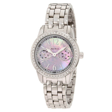 Citizen FD1030-56Y Silhouette Crystal Women's MOP Dial Watch