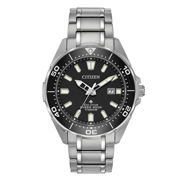 Citizen Men's Bracelet Watch - Promaster Diver Black Dial Titanium | BN0200-56E