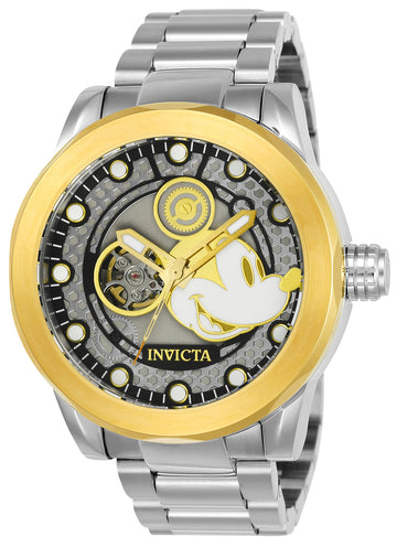 Invicta Men's Automatic Steel Bracelet Watch - Disney Silver & Gold Dial | 22743