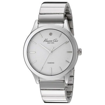 Kenneth Cole 10024370 Women's Diamond White Dial Stainless Steel Bracelet Watch