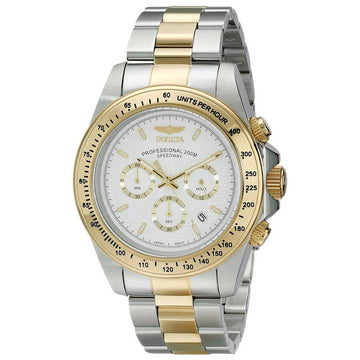 Invicta Men's Chronograph Watch - Speedway Two Tone Steel White Dial Dive | 18392