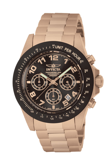 Invicta Men's Speedway Chronograph Watch - Brown Dial Rose Gold Steel Dive | 10706