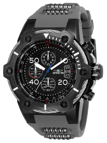 Invicta Men's Chronograph Watch - Bolt Compass Black Dial Quartz Date | 25467
