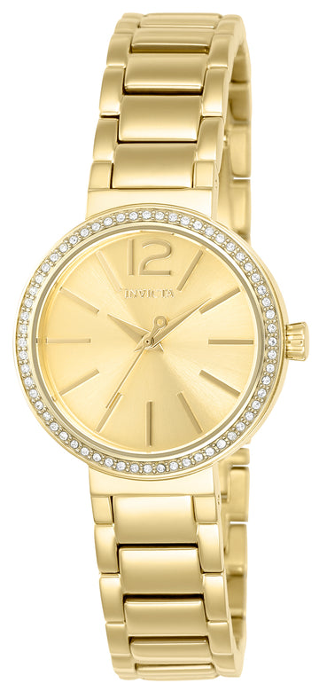 Invicta 23268 Women's Gabrielle Union Gold Tone Dial Yellow Gold Steel Crystal Watch