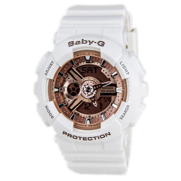 Casio Women's World Time Watch - Baby-G Ana-Digital Dial Resin Strap | BA110-7A1