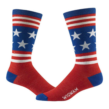 Wigwam Men's Socks - Anthem Lightweight, Red, White And Blue | F5402