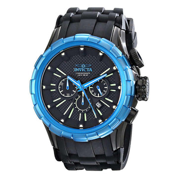 Invicta Men's Chronograph Watch - I-Force Blue Bezel Silicone Strap | 16978