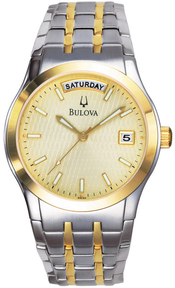Bulova Men's Bracelet Two Tone Watch 98C60