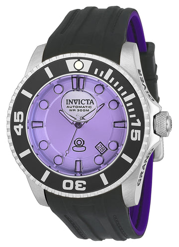 Invicta 22991 Men's Grand Diver Purple & Silver Dial Silicone Strap Automatic Dive Watch