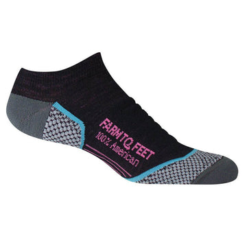 Farm To Feet Women's Socks - Damascus Black Technical Low | 9809-001-BLK