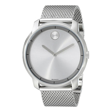 Movado Men's Mesh Bracelet Watch - Bold Silver Dial Stainless Steel | 3600260