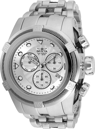 Invicta 23909 Men's Bolt Zeus Silver Dial Steel Bracelet Chronograph Dive Watch