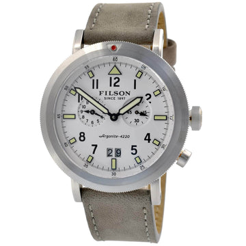 Filson 10000338 Scout Men's Dual Time White Dial Dive Watch
