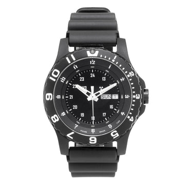 Traser Men's Strap Watch - Type 6 MIL-G Black Dial Black Rubber | 100376