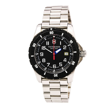 Swiss Army 241675 Men's Maverick Sport Black Dial Stainless Steel Bracelet Watch