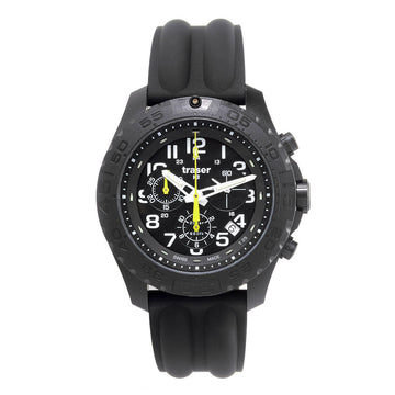 Traser Men's Strap Watch - P96 Outdoor Pioneer Chronograph Black Dial | 105199