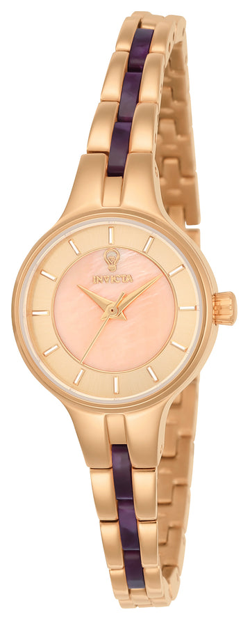 Invicta 23322 Women's Steel & Resin Bracelet Gabrielle Union Rose Gold-Mother of Pearl Dial Watch Set