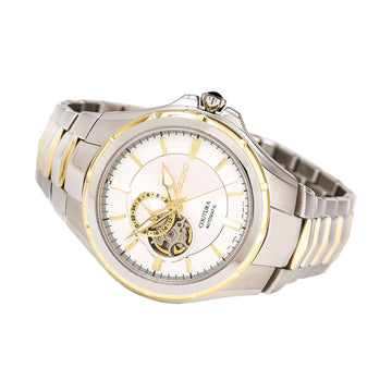 Seiko SSA314 Men's Coutura Two Tone Yellow Gold Steel Semi-Skeleton Silver Dial Automatic Watch