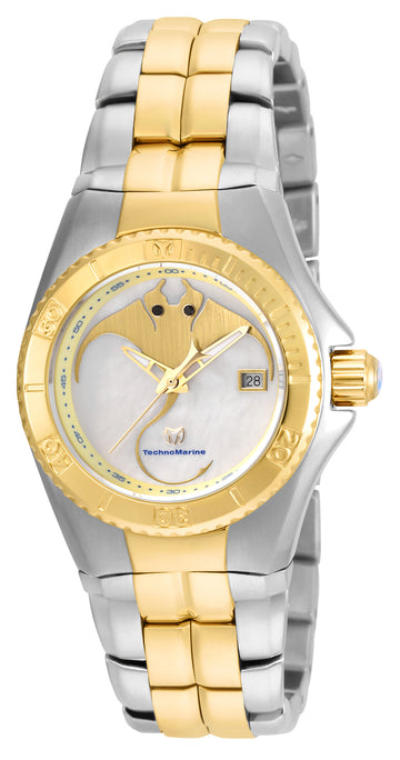 Technomarine Women's Two Tone Bracelet Watch - Cruise Dream MOP-Gold Dial | TM-115187