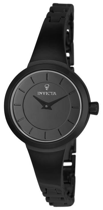 Invicta 23319 Women's Black Steel Bracelet Quartz Gabrielle Union Grey Dial Watch Set