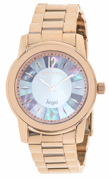 Invicta 12631 Women's Angel Mother of Pearl Dial Rose Gold Plated Steel Bracelet Watch