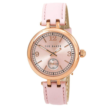 Ted Baker 10023476 Women's Dash Quartz Pink Leather Strap Pink Dial Watch