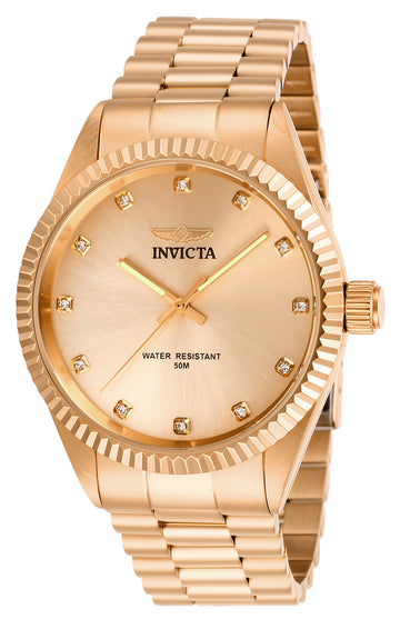 Invicta Men's Quartz Watch - Specialty Rose Gold Tone Dial Bracelet | 29506