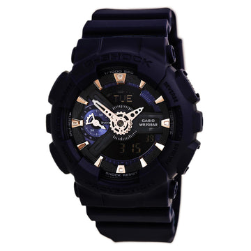 Casio Men's World Time Watch - G-Shock S Series Dive Blue Resin Strap | GMAS110CM-2A