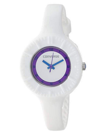 Converse VR023-100 Women's White Plastic Quartz Skinny White Dial Watch