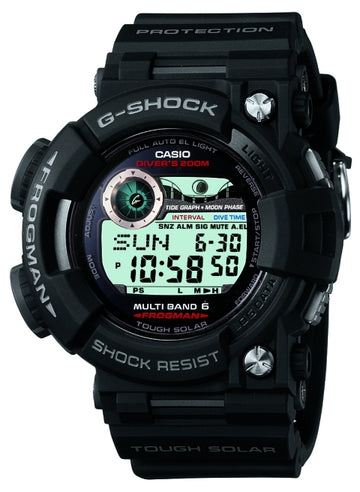 Casio Men's Digital Watch - G-Shock Frogman Atomic Solar World Time Alarm | GWF1000-1