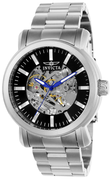 Invicta 22574 Men's Vintage Black & Silver Dial Automatic Watch