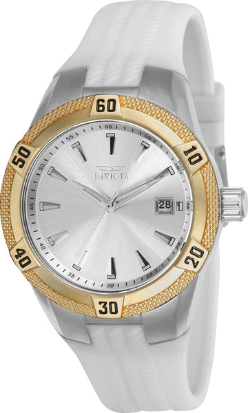 Invicta Women's Strap Watch - Angel Quartz Silver Dial White Silicone | 24597