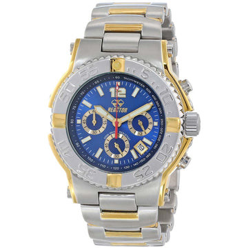 Reactor 75103 Men's Critical Mass DNA Blue Dial Two Tone Bracelet Chronograph Dive Watch