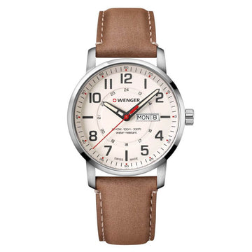 Wenger 01.1541.103 Attitude Men's Brown Leather Band Watch