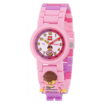 Lego Kids Watch & Clock Set - Time Teacher Minifigure Plastic Bracelet | 9005039